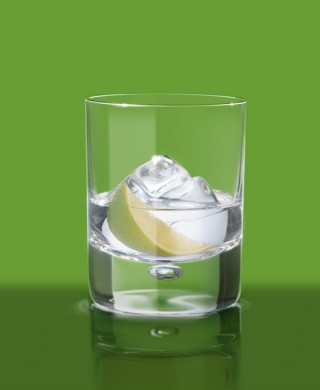 Cointreau tumbler glass