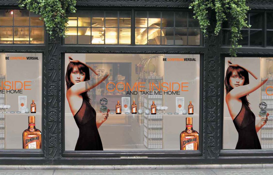 Cointreau advertising window vinyl design