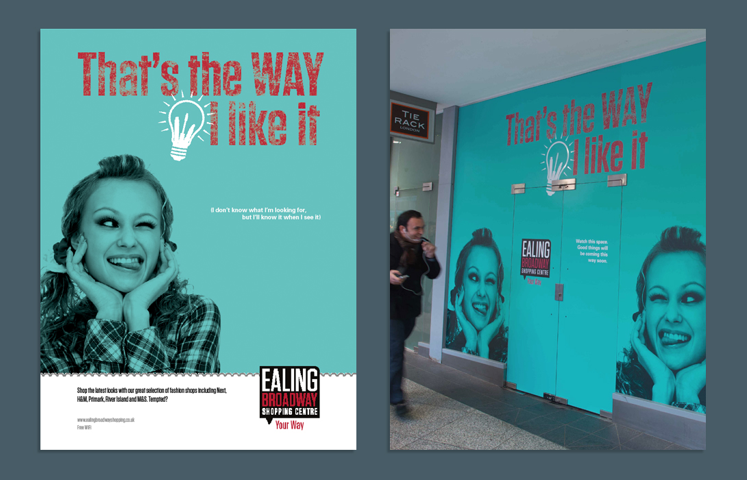 Ealing Broadway campaign ad