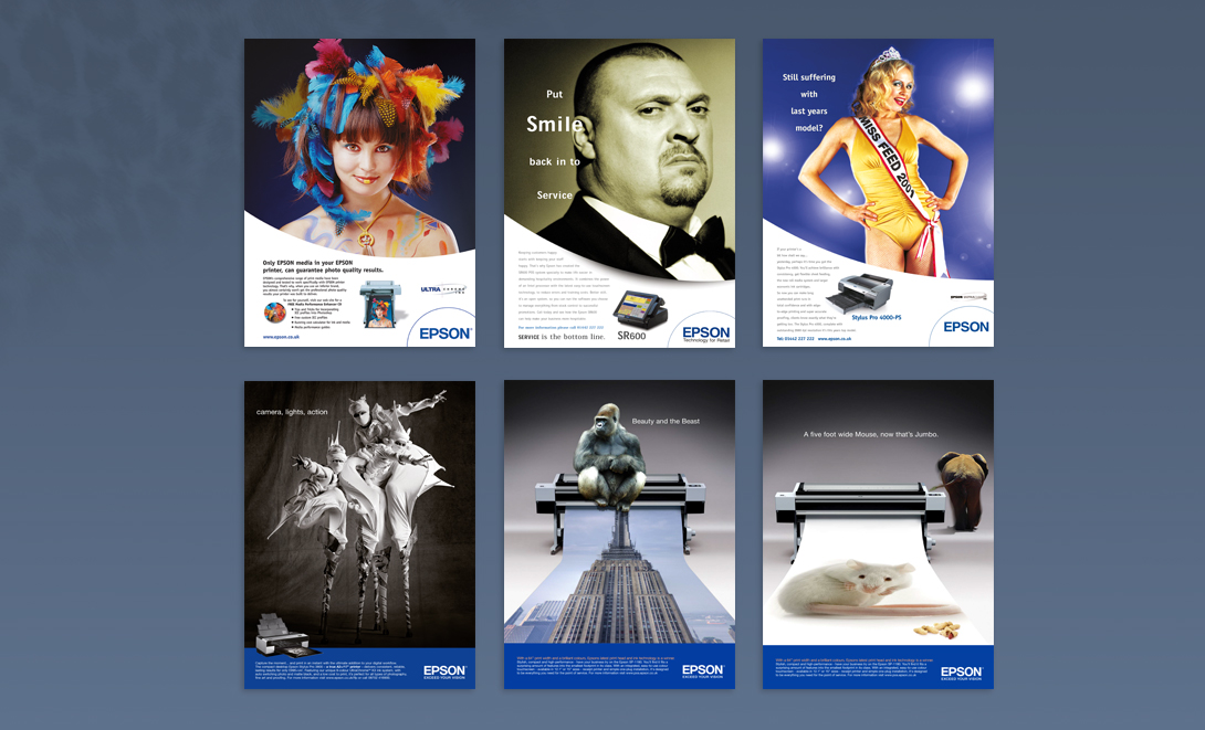 Epson adverts overview