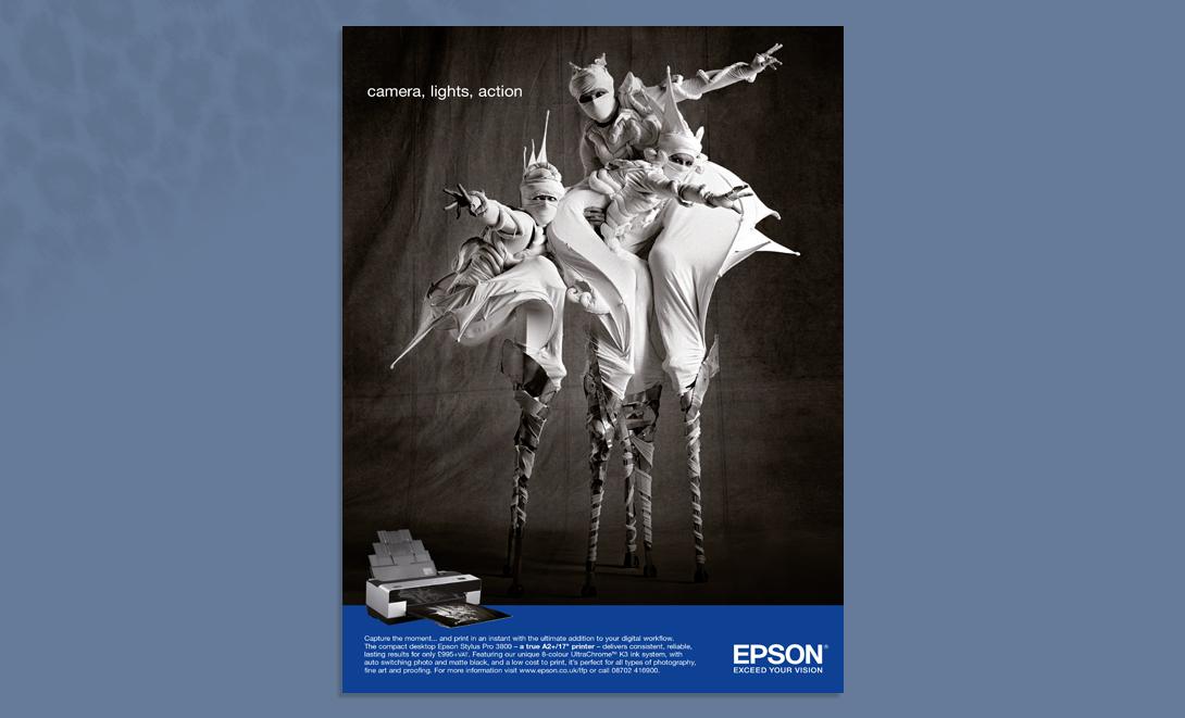 Epson advert camera lights action