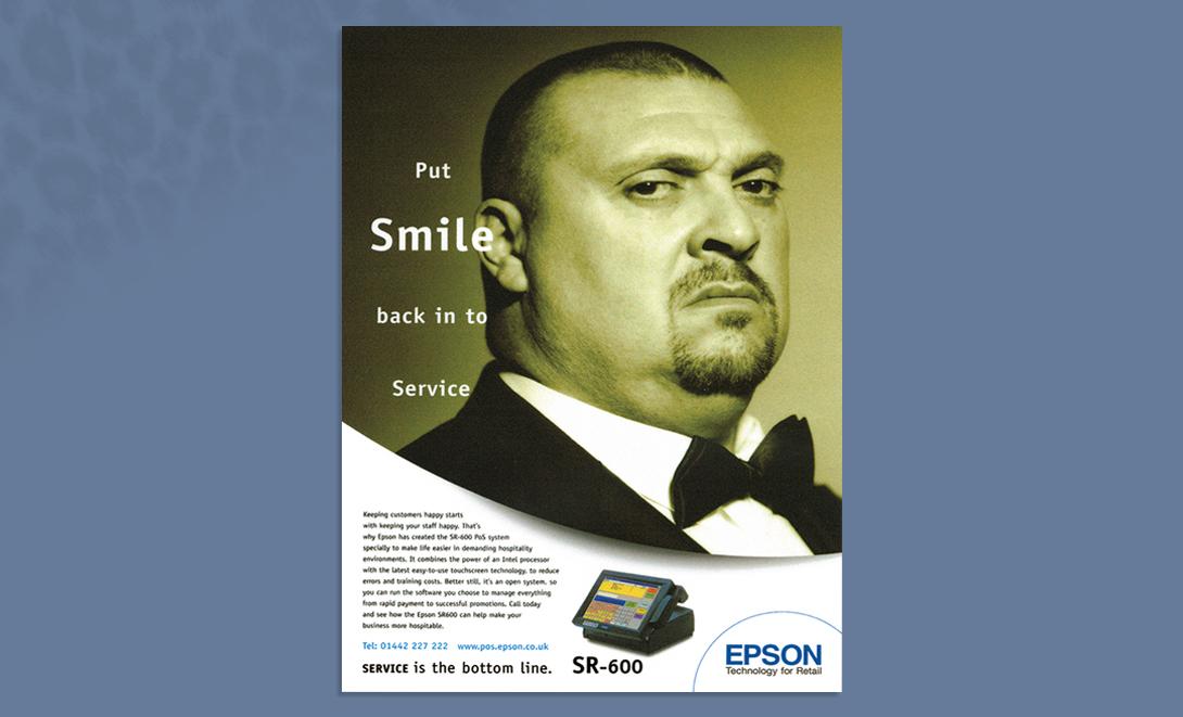 Epson advert smile into service