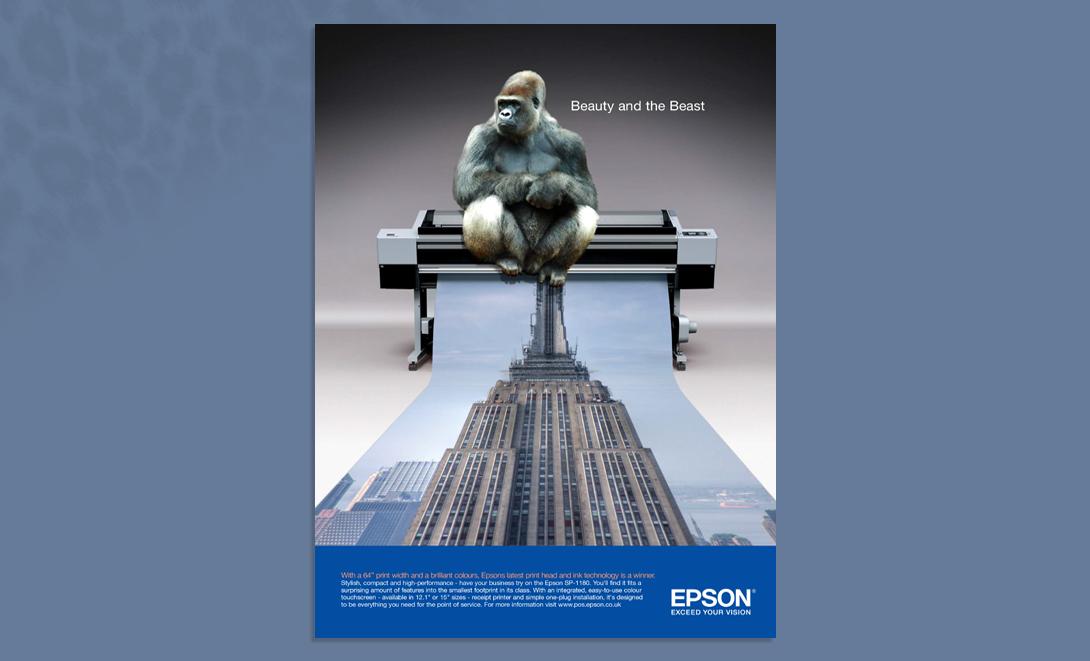 Epson advert King Kong