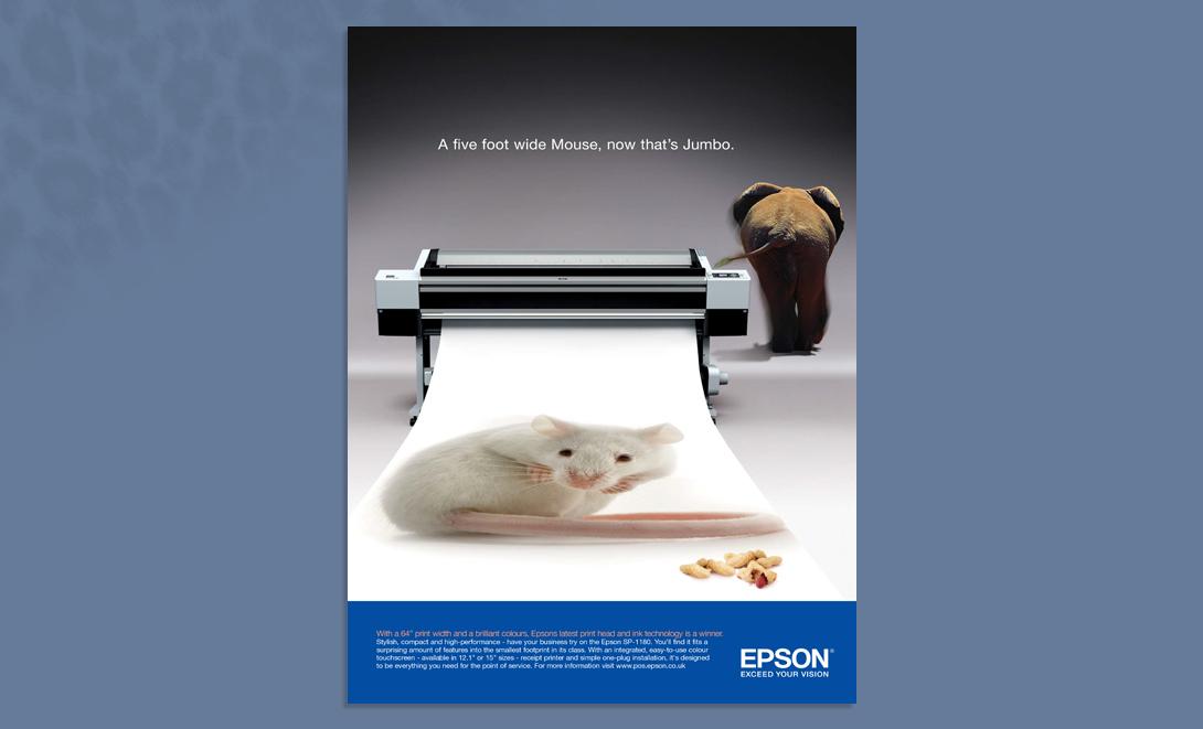 Epson advert Main Mouse Elephant