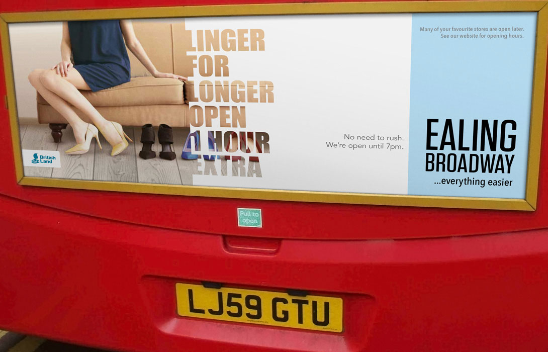 Ealing Broadway Click and Collect campaign
