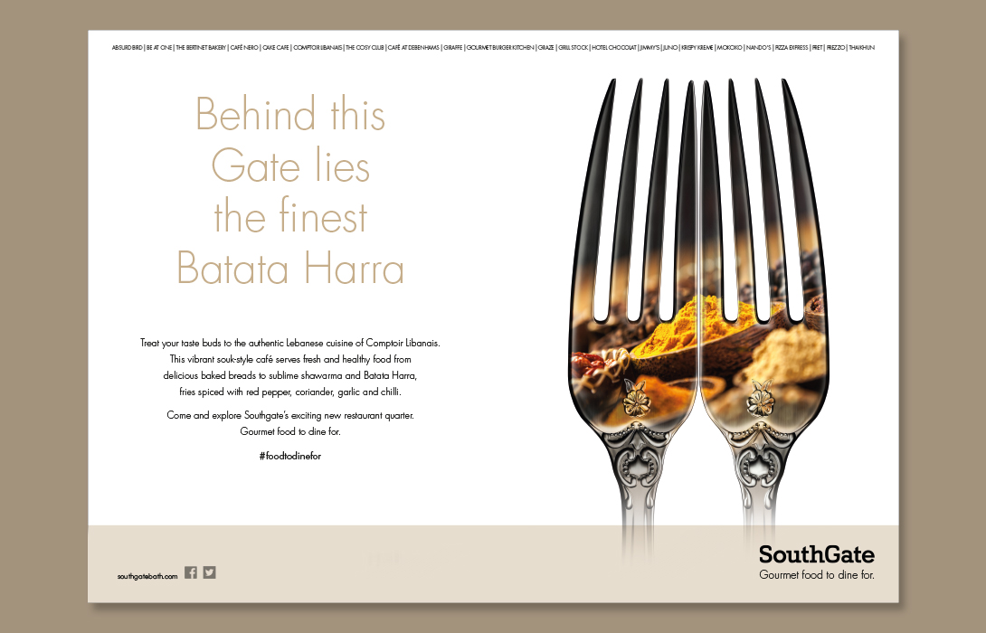SouthGate Food campaign Creative Design Batata Harra 1