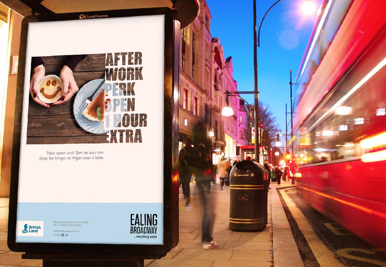 Ealing Broadway rebrand bus stop image