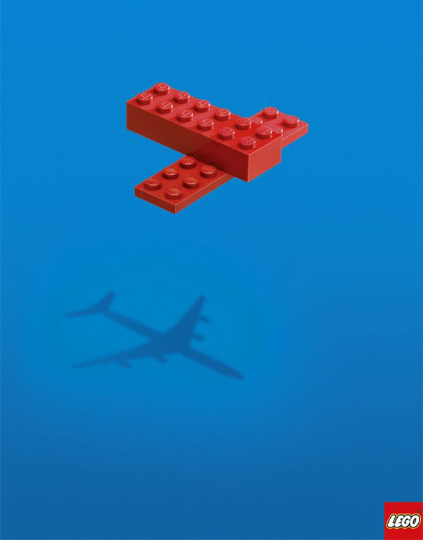 Lego advertising poster