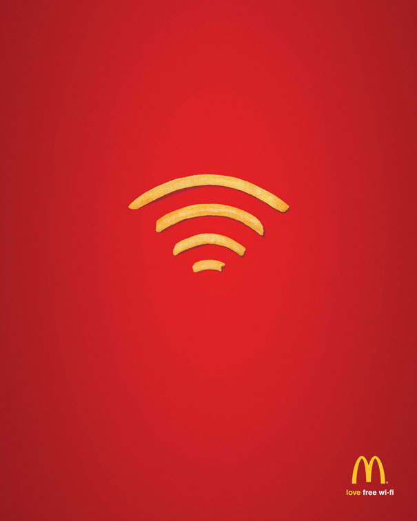 Mc Donald advertising poster