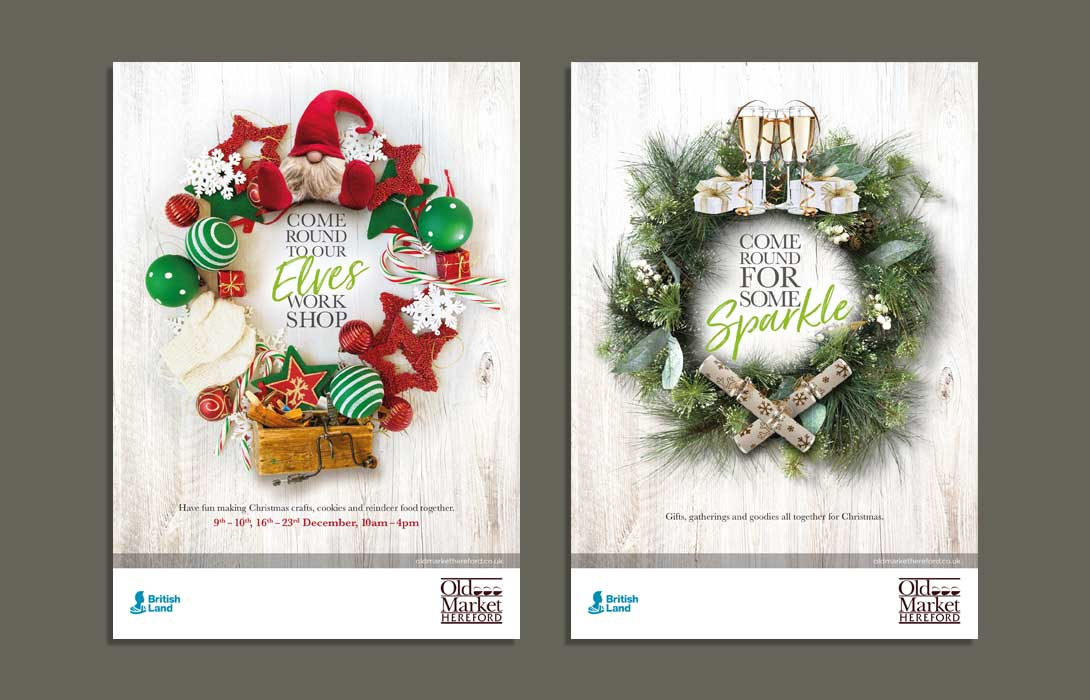 Christmas Campaign adverts for Old Market Hereford 2