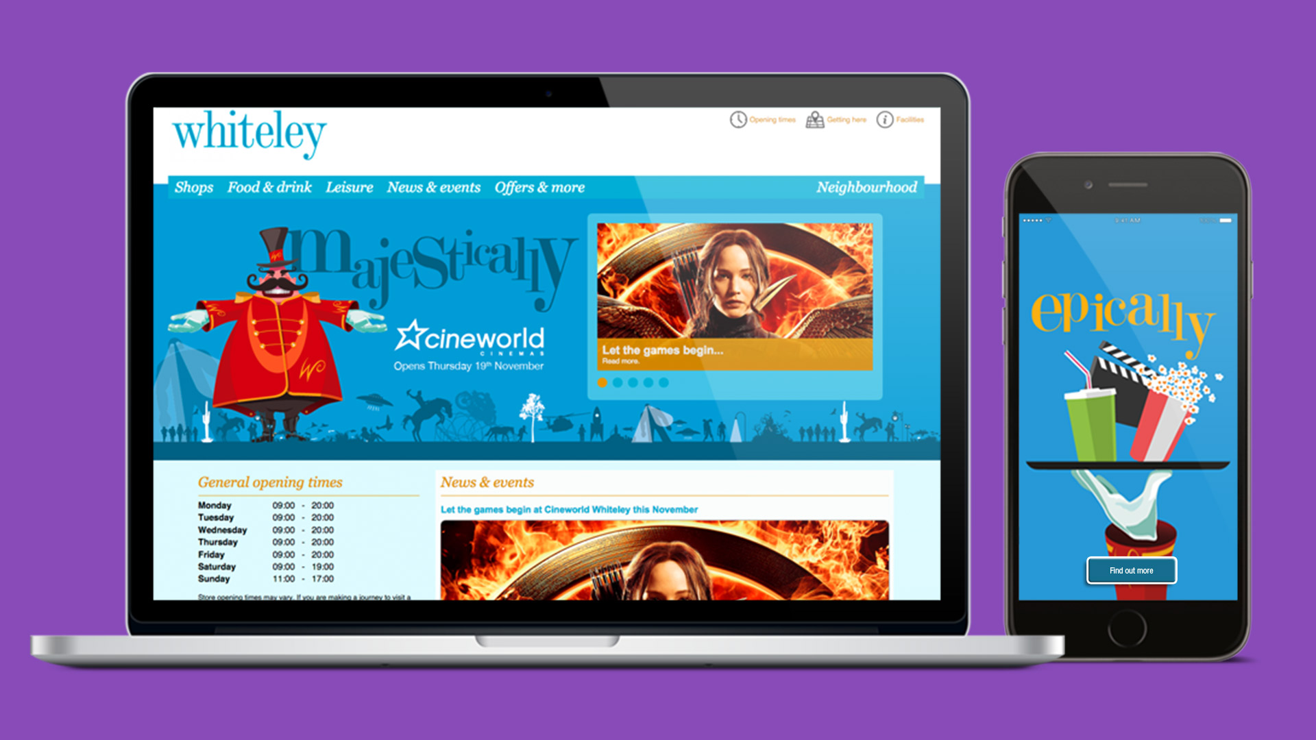 Whiteley Cineworld launch website and mobile
