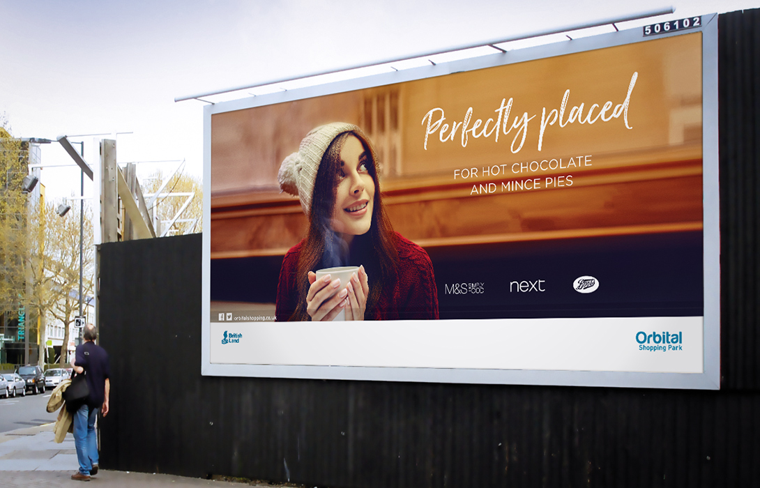 Perfectly placed campaign 48 sheet