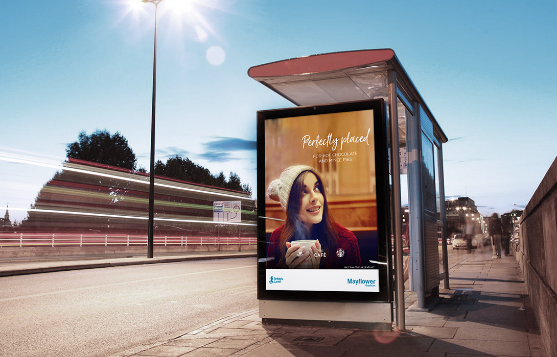 Perfectly placed campaign bus stop