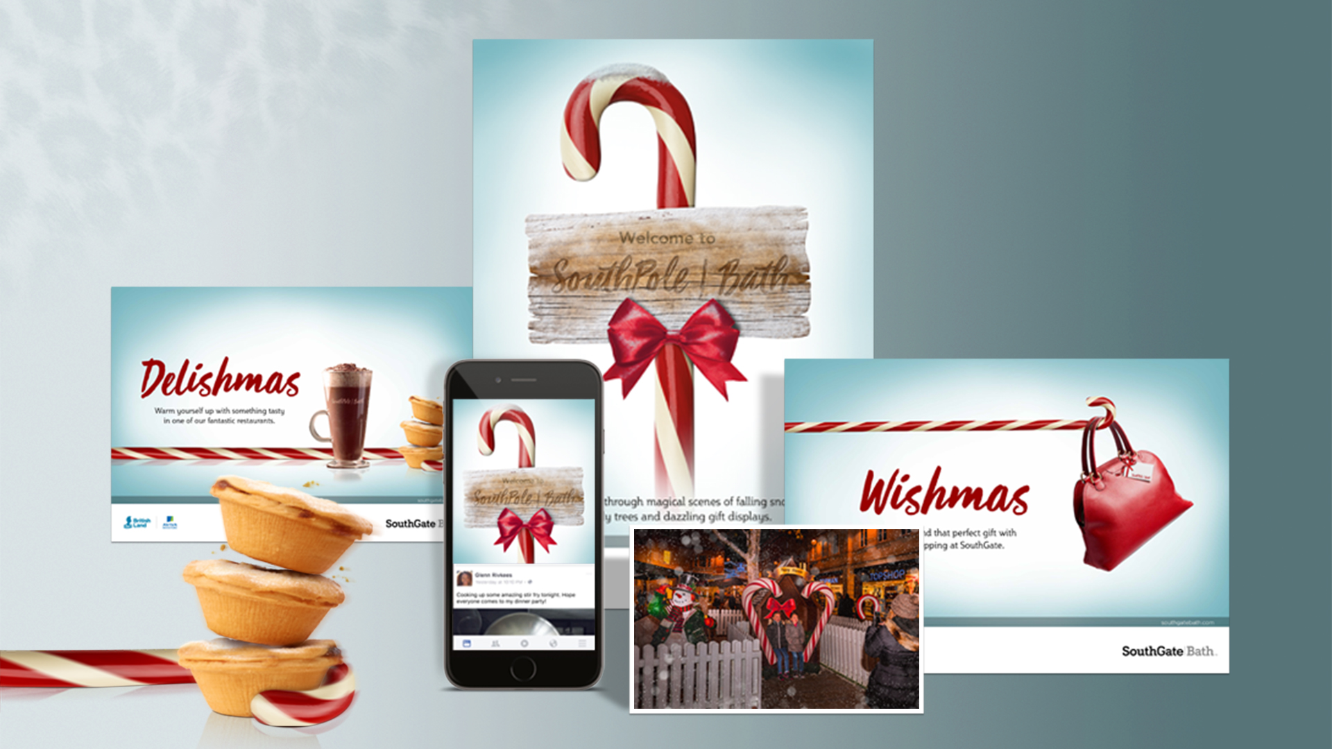 SouthGate Christmas campaign elements
