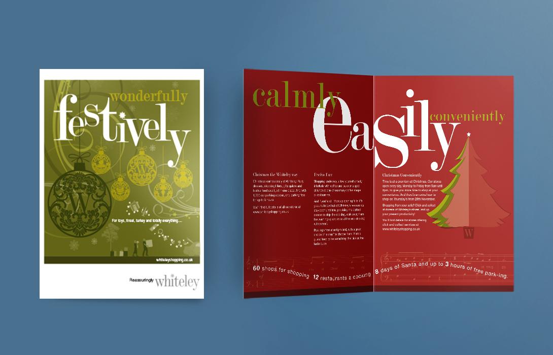 Whiteley Christmas 4pp booklet design