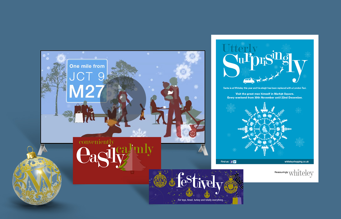 Whiteley Christmas campaign elements