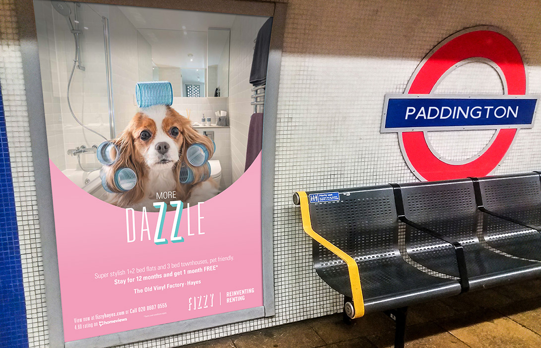 Fizzy Living underground London Advert