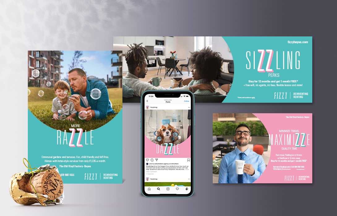 Fizzy Living campaign elements master