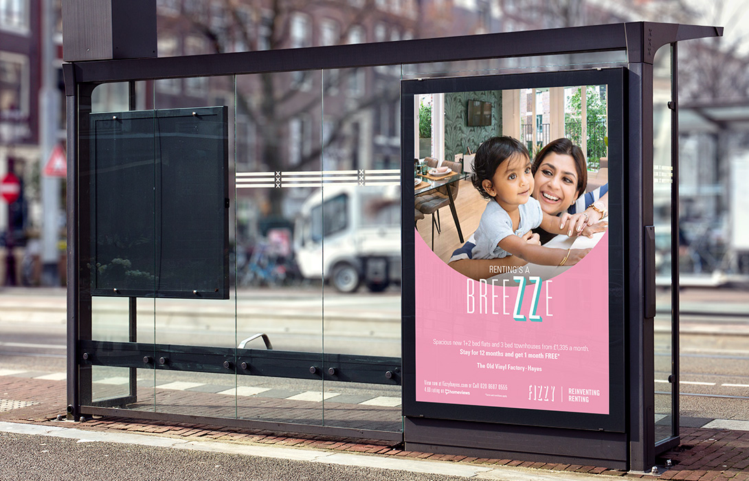 Fizzy Living Bus stop advert